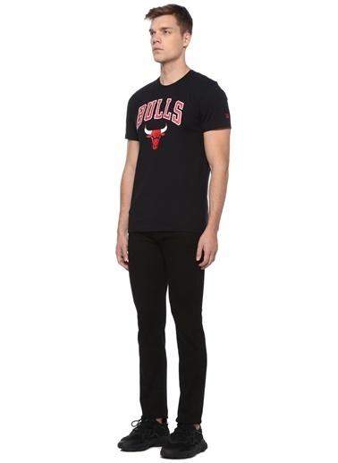 New Era New Era Chicago Bulls  Baskılı Basic T-shirt 101470280 Siyah